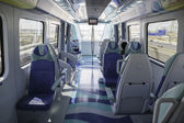 Interior of metro train in Dubai UAE — Stock Photo