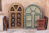 Old wooden shutters Arab — Stock Photo