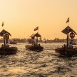 Stock Photo: Traditional Abrferries at sunset in Dubai