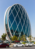 The Aldar headquarters building is the first circular building of its kind — Stock Photo