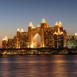Night view Atlantis Hotel in Dubai, UAE — Stockfoto