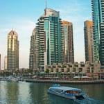 Dubai Marina at sunset. United Arab Emirates — Stock Photo
