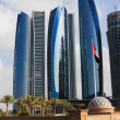 Skyscrapers in Abu Dhabi, United Arab Emirates — Stock Photo
