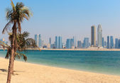 General view of Jumeirah Beach Park in Dubai — Stock Photo
