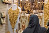 Gold market in Dubai, Deira Gold Souq — Stock Photo
