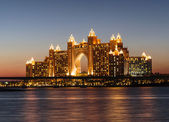 Night view Atlantis Hotel in Dubai, UAE — Stock Photo