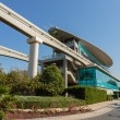 Monorail station at the Palm Jumeirah in Dubai — Stok fotoğraf