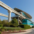 Monorail station at the Palm Jumeirah in Dubai — Zdjęcie stockowe