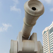 Grand Cannon Monument in Abu Dhabi — Stock Photo