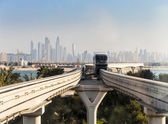 Monorail at the Palm Jumeirah in Dubai — Stock Photo