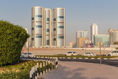 Una visión general de sharjah emiratos árabes unidos — Foto de Stock