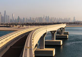 Monorail at the Palm Jumeirah — Stock Photo
