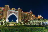 Night view Atlantis Hotel — Stock Photo