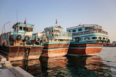 Traditional Abra ferries in Dubai — Stock Photo