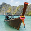 Traditional longtail boats — Stock Photo