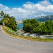 Stockfoto: Steep road turn
