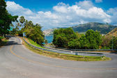 Steep road turn — Stock Photo