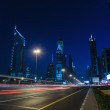 General view of Dubai at night — Stock Photo