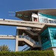 Monorail station at the Palm Jumeirah in Dubai — Foto Stock