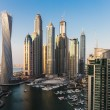 General view of Dubai Marina at twilight from the top — Stock Photo #39897647
