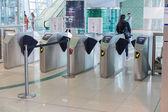 Interiér stanice metra v Dubaji — Stock fotografie