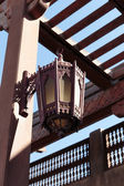 Traditional Arabic metal streetlight — Stock Photo