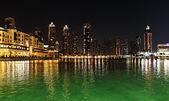 Dubai på natten — Stockfoto