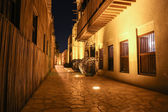 Night view of the streets of the old Arab city Dubai UAE — Stok fotoğraf