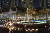 Dubai Marina at night. UAE — Stock Photo