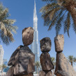 Stock Photo: Stone sculptures in Dubai