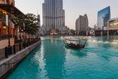 The area with tourist near Burj Khalifa. — Stock Photo