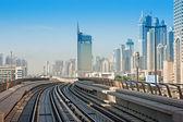 Subway tracks in the united arab emirates — Stock Photo