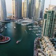 General view of Dubai Marina at twilight from the top — Stock Photo #41190299