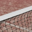 Tennis court net close up — Stock Photo