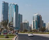 Modern buildings in Sharjah UAE — Stock Photo