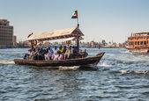 Traditional Abra ferries in Dubai, — Stock Photo