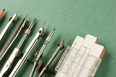 Old drawing tools — Stock Photo