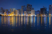 Night view of Sharjah UAE — Stockfoto