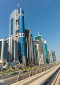 Metro subway tracks in the United Arab Emirates — Stock Photo