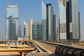 Metro subway tracks in the United Arab Emirates — Stock Photo