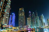 A view of Dubai Marina at Dusk — Stock Photo