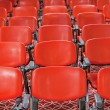 Rows of red chairs in empty conference hall — Stock Photo #41925703