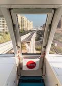 Uitzicht vanuit de cockpit monorail treinen — Stockfoto
