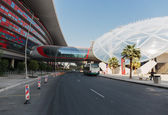Entertainment center Ferrari World in Abu Dhabi — Stock Photo