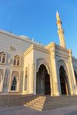 Mosque at sunrise in Sharjah, United Arab Emirates — Stock Photo