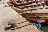 Traditionele abra veerboten in dubai — Stockfoto