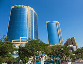 Deira Twin Towers in Dubai UAE — Stock Photo