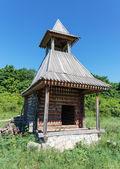 Old deserted log house — Stock Photo
