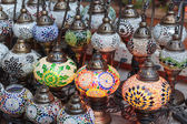 Traditional Arabic lamps on the market Dubai — 图库照片