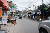 Patong Bangla road with tourists — Stock Photo